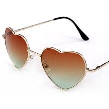 2017 gafas de Sol de Moda Las Mujeres Diseñador de la Marca Classic Rosa En Forma de Corazón Gafas de Sol de La Vendimia gafas de sol oculos femin