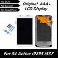 100% испытания хорошей оригинальный жк-дисплей для Samsung S4 активность i9295 i537 черный / белый / серый цвет замена жк-экран с инструментами