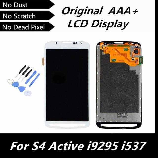 100% testado bom Display LCD Original para Samsung i9295 S4 atividade i537 preto / branco / cinza cores tela LCD de substituição com ferramentas