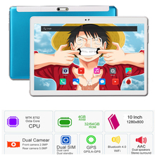 """DHL Free Shipping 10 inch Tablet PC Octa Core 4GB RAM 32GB ROM Android 7.0 IPS 1280*800 GPS 5.0MP 4G LTE Tablet 10.1""""2.5D Glass"""