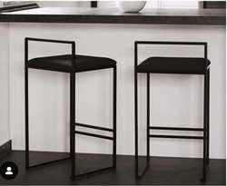 Скандинавское барное кресло, современные ровные цилиндры, кресло, модное переднее настольное кресло, семейная индивидуальность, барное