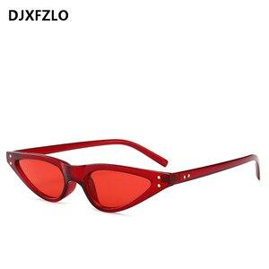 Neue kleine sonnenbrille frauen cat eye vintage schwarz leopard rot dreieck stilvolle cat eye sonnenbrille weibliche 2018 Geschenk uv400 oculos