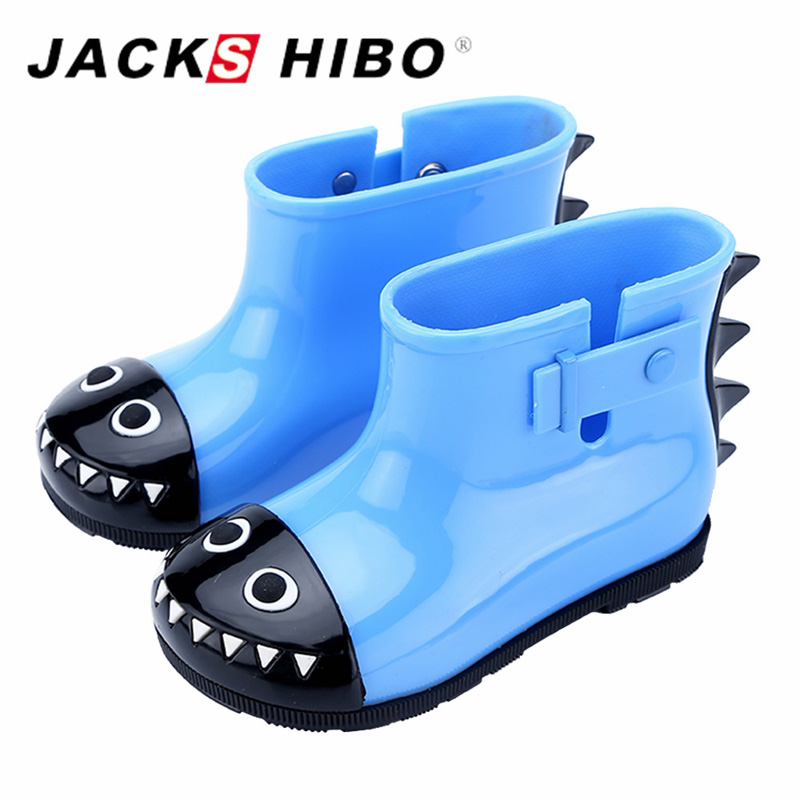 f3b8c96f77f36 JACKSHIBO Brand New Kids Rain Boots Anti skid Warm Rainboots Boys Girls  Cute Cartoon Children's Babys Shoes Toddler Kids Boats-in Boots from Mother  & ...