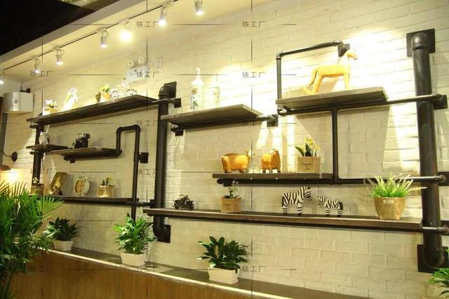 Free Shipping Loft Industrial Pipe Racks Creative Retro Iron Wood Shelves  Shelf Display Shelf To Do