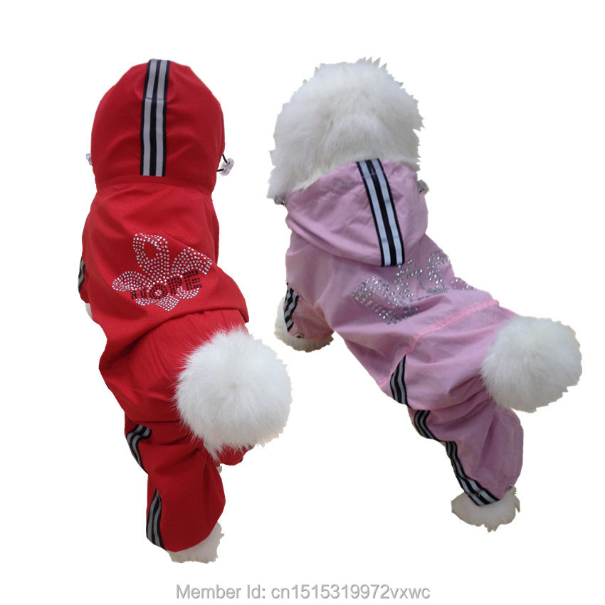 Red Dog esőkabát jumper Kis kutya Jumpsuit Kisállat ruházat - Pet termékek