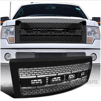 XYIVYG 2009 2014 for Ford F150 Black ABS Luxury Raptor Style Front Hood Grille