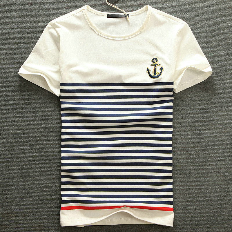 New fashion brand top male white mens clothing the trend for Best mens t shirt brands