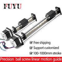 CNC Linear Guide Stage Rail Motion Slide Table Ball Screw Actuator Nema 23 Motor Module for 3d Printer Parts XYZ Robotic Arm Kit