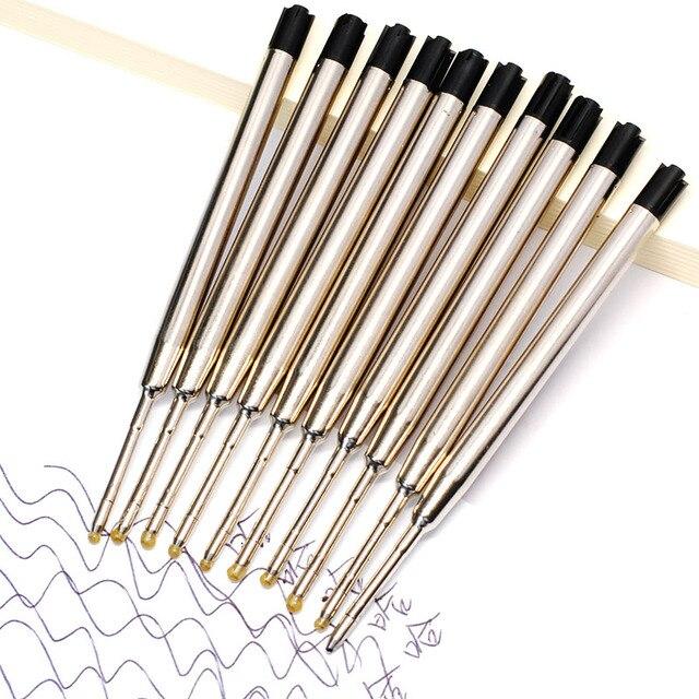 10pcs 0.5mm Roller Ballpoint Pen Refill Medium Nib Blue Black Color Ink Ball Pens Refill for School Office Writing Stationery 3