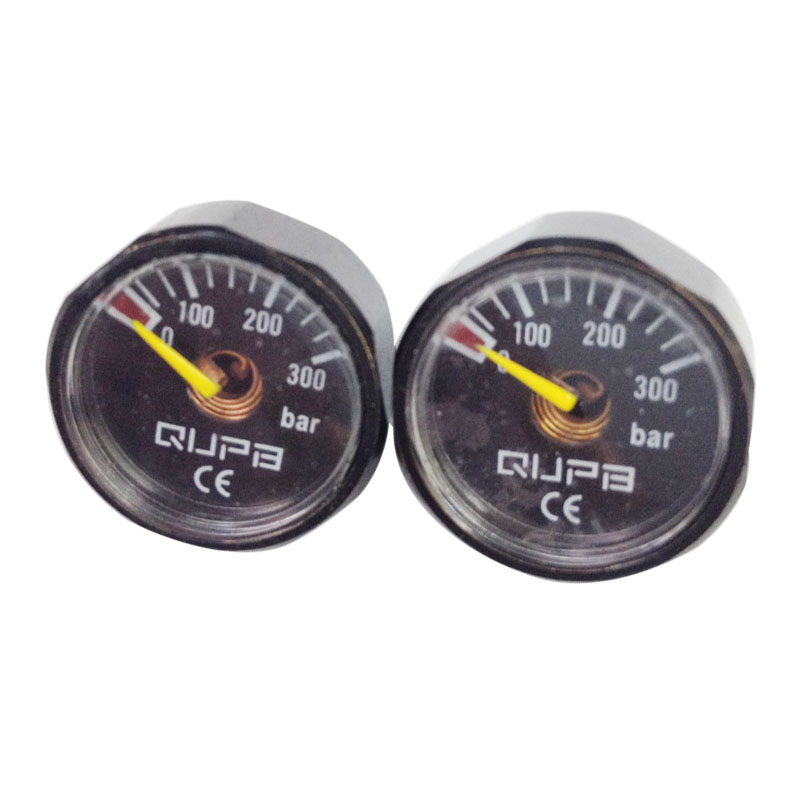 PCP Paintball High Pressure Gauges Black 1 Inch 300Bar 1/8NPT 2pcs/lot