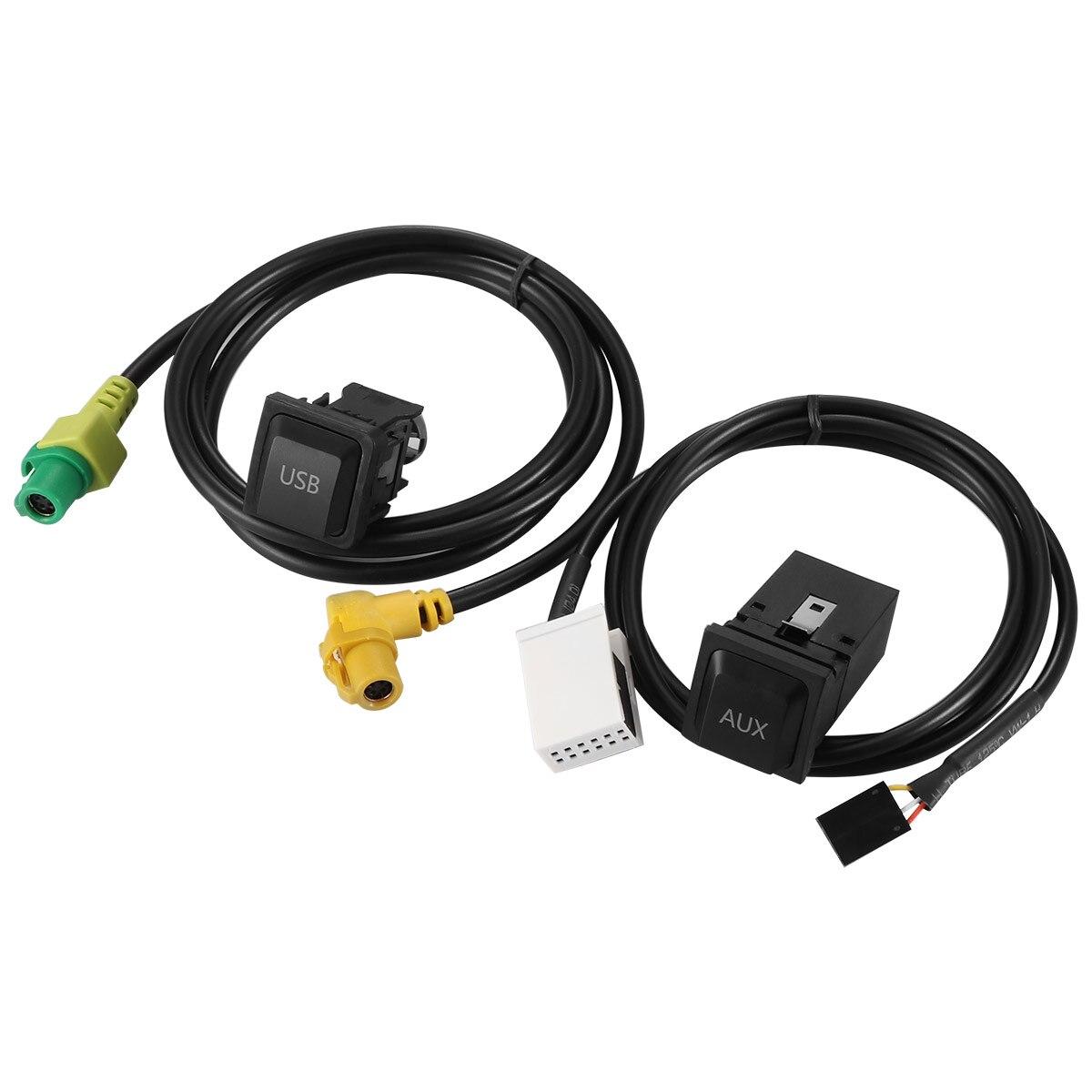 Черный USB-кабель для VW RNS315 RCD510 Magotan L POLO Touran, Премиум соединительный провод, выключатель проводки