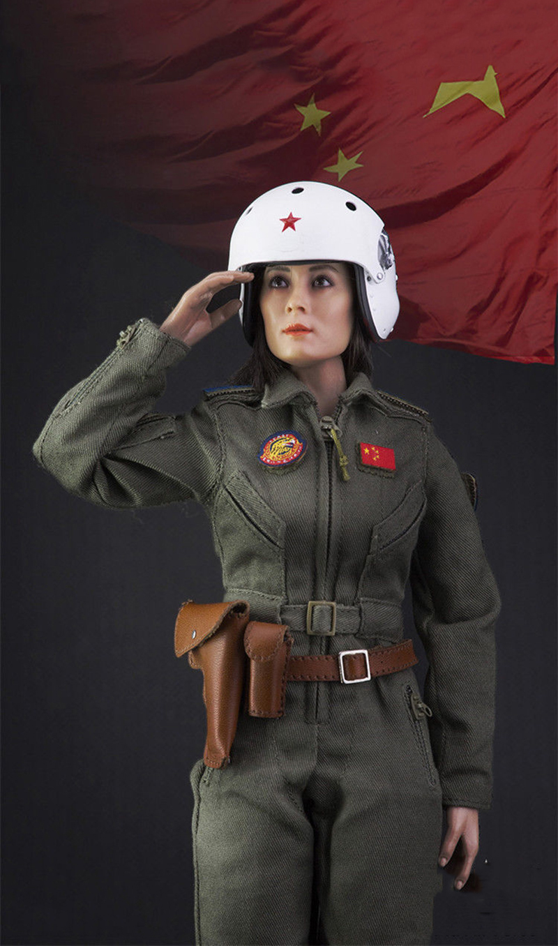 Collectible 1/6 Scale Chinese Air Force Women Pilot Full Set Action Figure Toy Doll Toys Gift 1 6 scale figure doll comic version wolverine 12 action figures doll collectible model toy soldiers