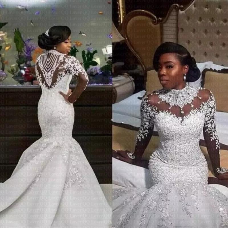 Nigrian Bridal Wedding Dresses: 2019 Luxury Gorgeous Neck Wedding Dresses African Nigerian