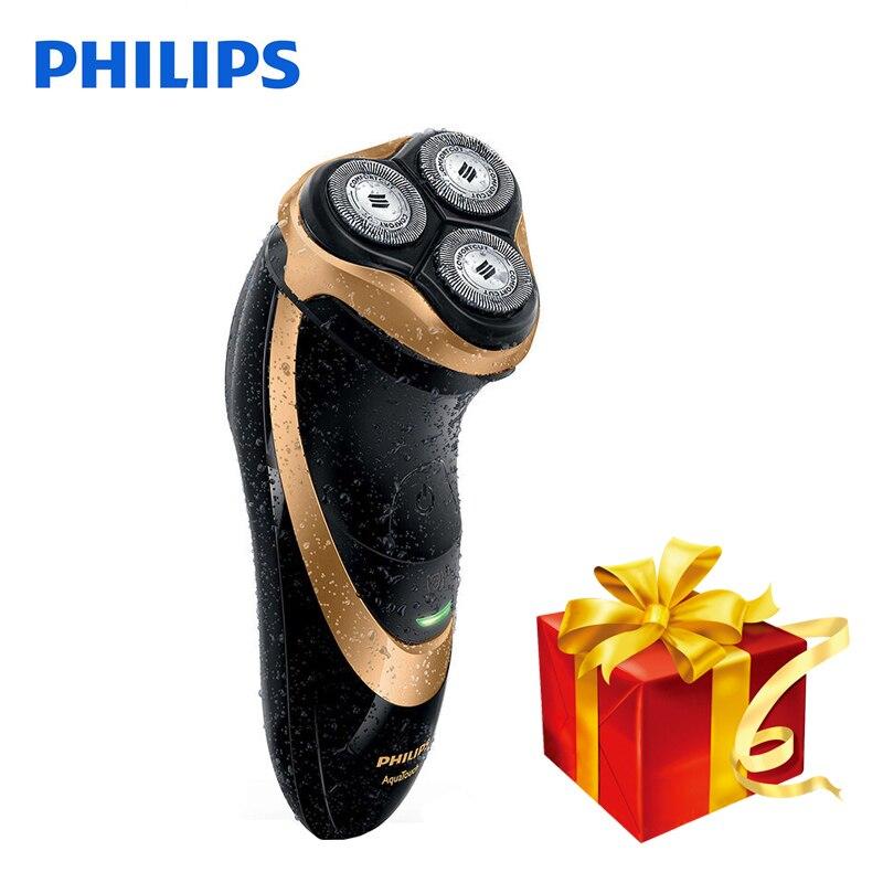 100% Оригинальные Philips Профессиональный электробритва AT798 поворотный Перезаряжаемые для Для мужчин с тройной плавающей лезвия Wet & Dry бритья