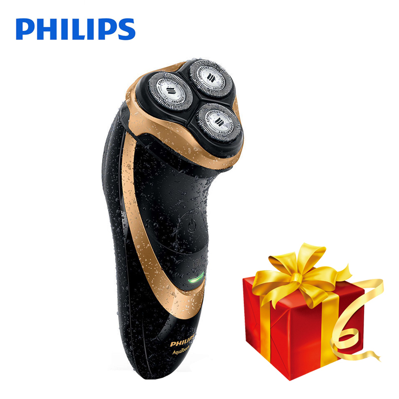 100% Original Philips Professional Electric Shaver AT798 Rotary Rechargeable For Men With Triple Floating Blades Wet&Dry Shaving-in Electric Shavers from Home Appliances