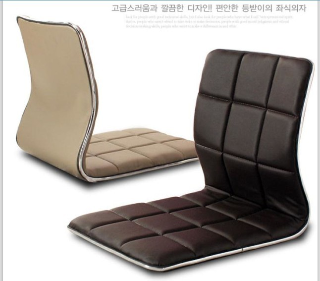 (4pcs/lot) Good Life Furniture Chairs Latest Zaisu Legless Brown Leather Living RoomJapanese Floor Seating Tatami Leather  Chair