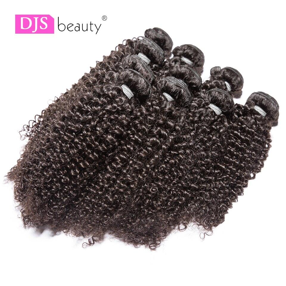 Haarverlängerung Und Perücken Djs Schönheit 10 Bundles/lot Brasilianische Verworrene Lockige Menschenhaar Bündel Reines Menschenhaar Natürliche Farbe Haar Extensions