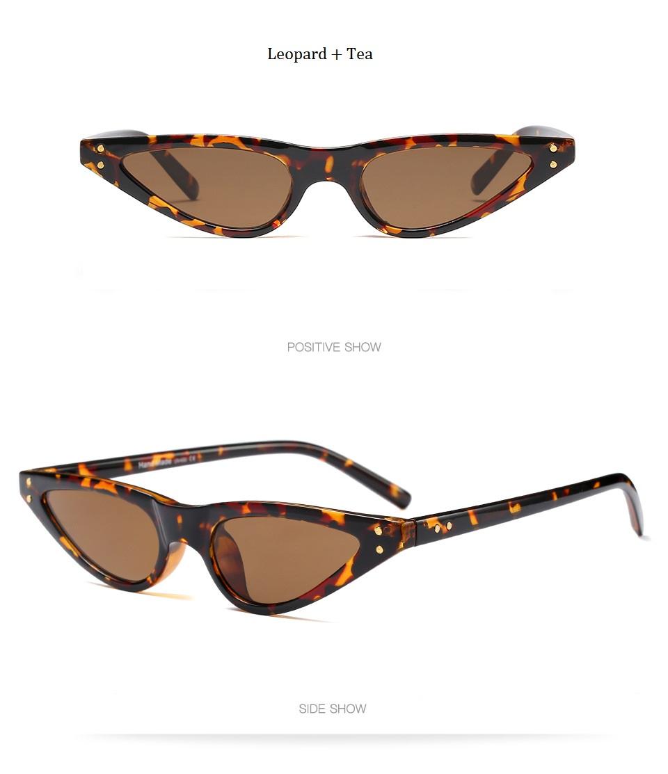 HTB1ZTKMdTnI8KJjSszbq6z4KFXaT - Unisex Flat Top Eyeglasses Small Triangle Frame Cat Eye Sunglasses Women UV400 2018 Fashion Color Ocean Film Sun Glasses Cool
