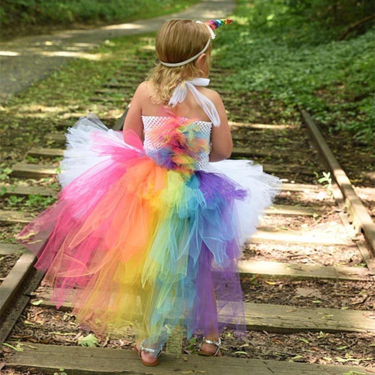 Verwonderlijk Kopen Goedkoop Regenboog Meisjes Eenhoorn Tutu Jurk Baby Pluizige BS-63