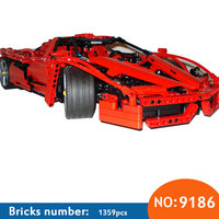 2017 New AIBOULLY Technic ENZO 1:10 Supercar Car Model Building Block Educational Construction Bricks compatible with DIY 8653