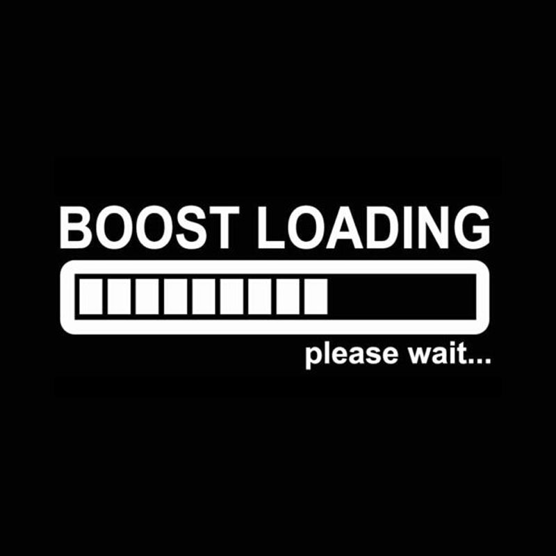 Image 2 - 14CM*5CM Creative Boost Loading Please Wait For Turbo Funny Car Stickers C5 0681-in Car Stickers from Automobiles & Motorcycles