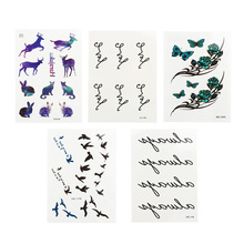 Love Temporary Fake Tattoos Sticker Love Letters Pattern Waterproof Wrist Body Art Sexy Removable Tattoo Tatouage Disposable