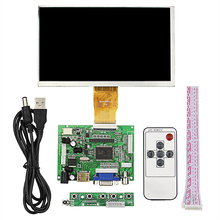 Sale 7inch Raspberry Pi LCD TFT Display 1024*600 50pin Monitor Screen Module+Drive Board HDMI VGA+Remote Control for Raspberry Pi 3 2