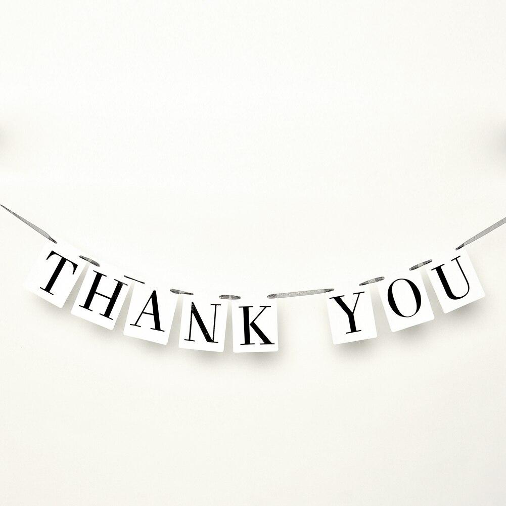THANK YOU Wedding Card Banner Bunting DIY Photo Props Bridal Party ...