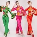 2016 Этап Костюм Китайский Народный Танец Одежда Национальный Костюм Женский Yangko Танцевальные Костюмы Барабан Хоровой Сервис Танец Одежды