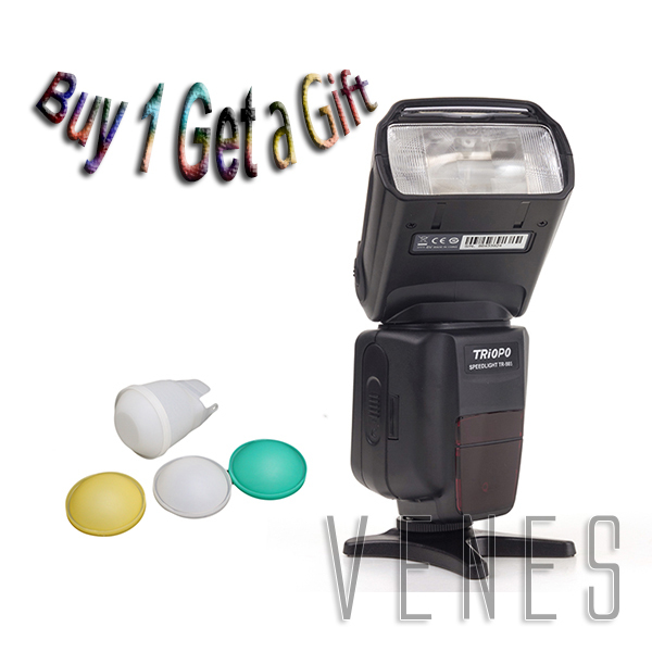 Special Offer buy 1 get 1 gift!!!! TR-985 Color LCD e-TTL 1/8000 HSS Wireless Flash Light Speedlite work For Canon760D 750D цены онлайн