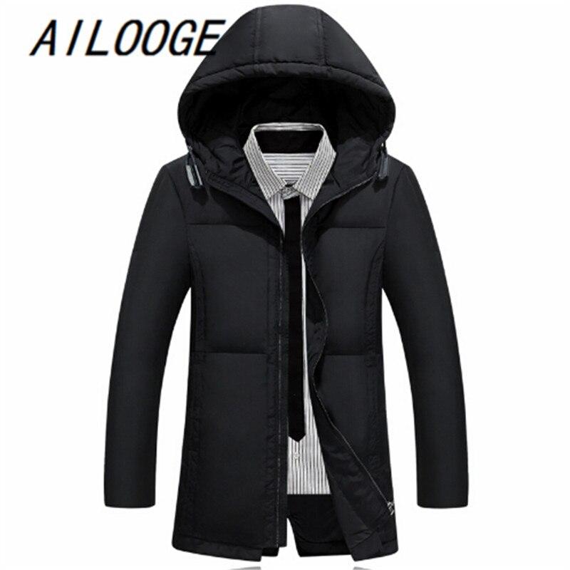 470515d4148fa Hombres invierno mantener caliente Abrigos de plumas blanco pato Abrigos de  plumas chaqueta hombres abrigo largo