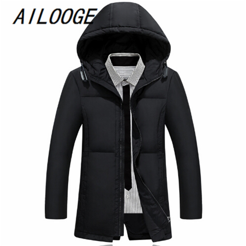 Men's Winter Keep Warm   Down     Coat   White Duck   Down   Jacket Men Long overcoat Casual Mens   Down   Jackets for Masculina
