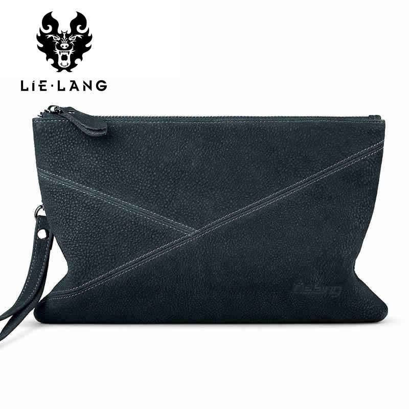 Genuine Leather Men Clutch Bags Wallets Large Capacity Bags Purse Male Luxury Wallet Soft Leather Business Wallets Wristlet