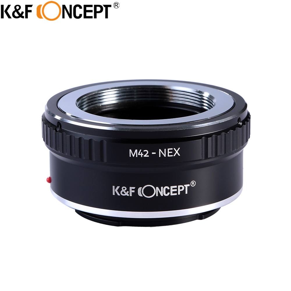 K&F CONCEPT M42-NEX Camera Lens Adapter Ring For M42 Screw Mount Lens to for Sony NEX E Mount CameraNEX3 NEX5 NEX5N NEX7 NEX-5R k&f concept for minolta af nex camera lens mount adapter ring for minolta af lens to sony nex e mount for nex 3c nex 5n nex 6