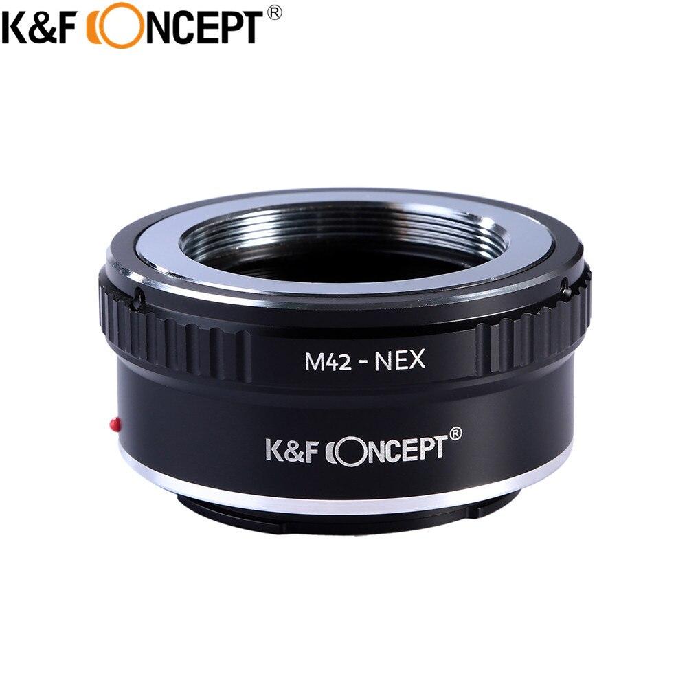 K & F concept m42-nex Cámara Adaptadores para objetivos anillo para M42 Tornillo de montaje lente para Sony NEX e montaje cameranex3 nex5 nex5n nex7 nex-5r