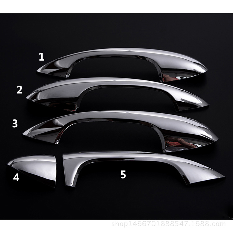 5 Pieces / Lot Car Door Handle Cover Trim For Mercedes Benz 2015 2016 C Class C-Class W205  GLC Car Styling For Left Hand Drive