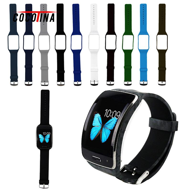Cocotina Replacement Silicone Bracelet Wrist Band Strap Fit For Samsung Galaxy Gear S Sm-r750 Buckle Silicone Wristband luxury silicone watch replacement band strap for samsung gear fit 2 sm r360 wristband 100