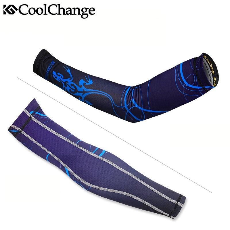 CoolChange Vélo Manches Armwarmer VTT Vélo Vélo Manches Arm warmer UV Protection Manches Débarrasser De Golf Sport Bras Manches