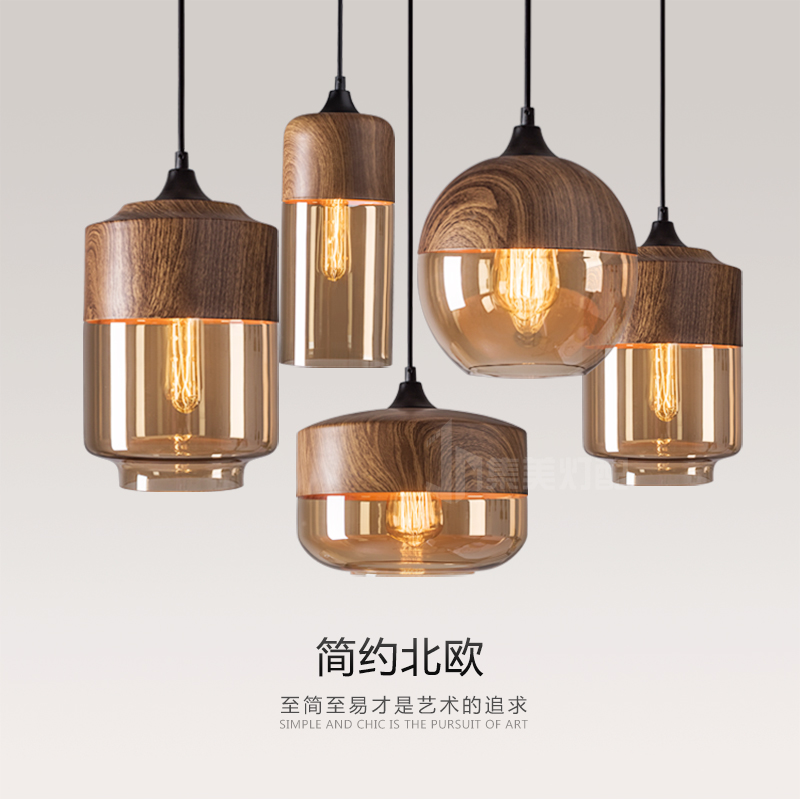 Здесь продается  loft retro iron wood glass pendant light for bar dining-room sitting room personality droplight  Свет и освещение