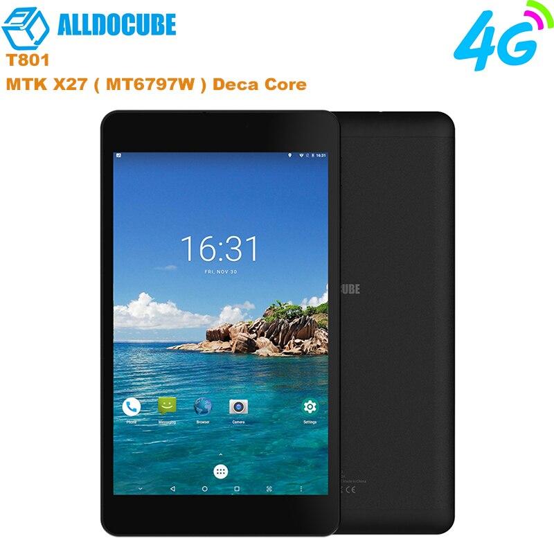 Nouveau ALLDOCUBE M8 8 pouces 4G téléphone tablettes d'appel MT6797X Helio X27 Deca Core 1200*1920 IPS écran Android 8.0 3 GB + 32 GB tablette PC