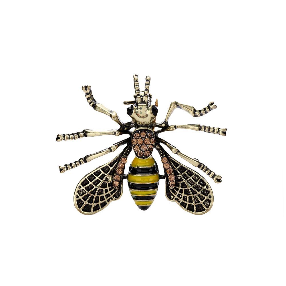 1Pcs New Style Vintage Bee Brooches Unisex Insect Metal Brooch Pin  Women&Men Jewelry Small Bumblebee Badges Fashion Jewelry