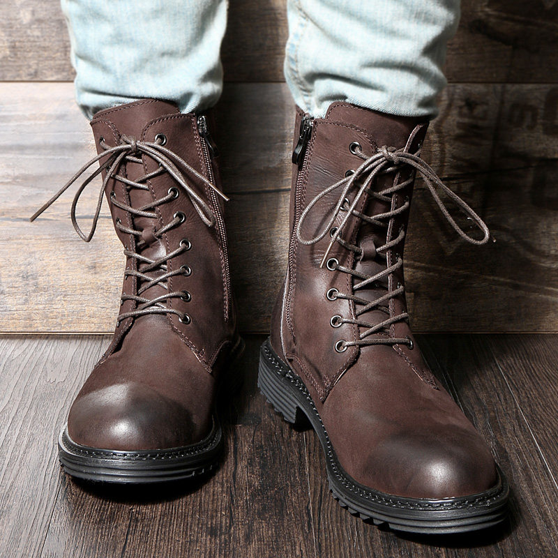 Soliders Mid calf Boots Casual