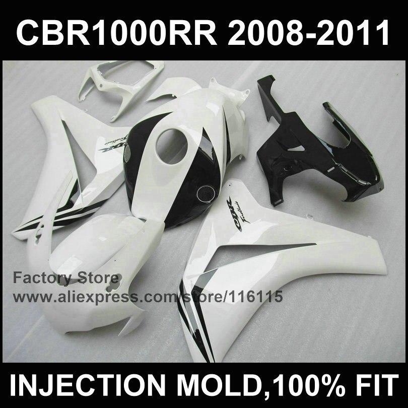 ΞNuevo carenado blanco para Honda Dream CBR1000RR 2008 2009 2010 ...
