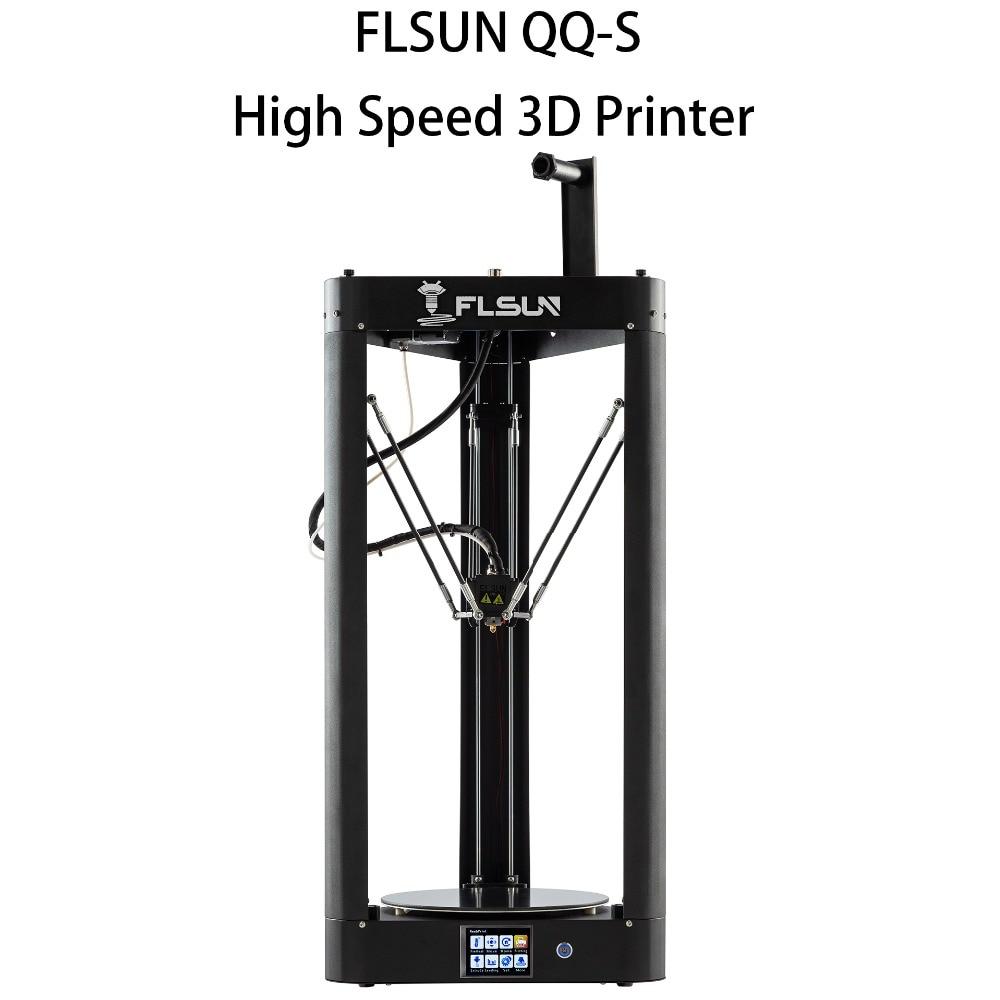 Flsun-QQ-S imprimante 3d 95% pré-assemblage Auto-nivellement haute vitesse plate-forme vitrocéramique imprimante 3d écran tactile Wifi Filament Kit