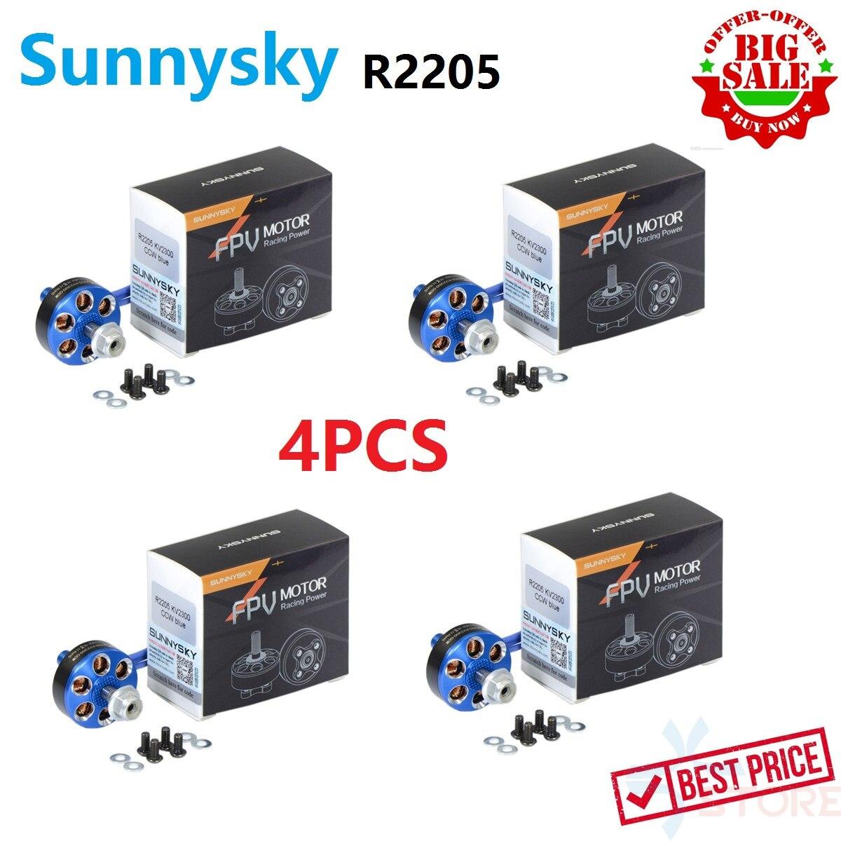 4PCS Sunnysky R2205 2205 2300KV 2500KV Brushless Motor CW CCW For RC Drone FPV Racing Multi Rotor Quadcopter