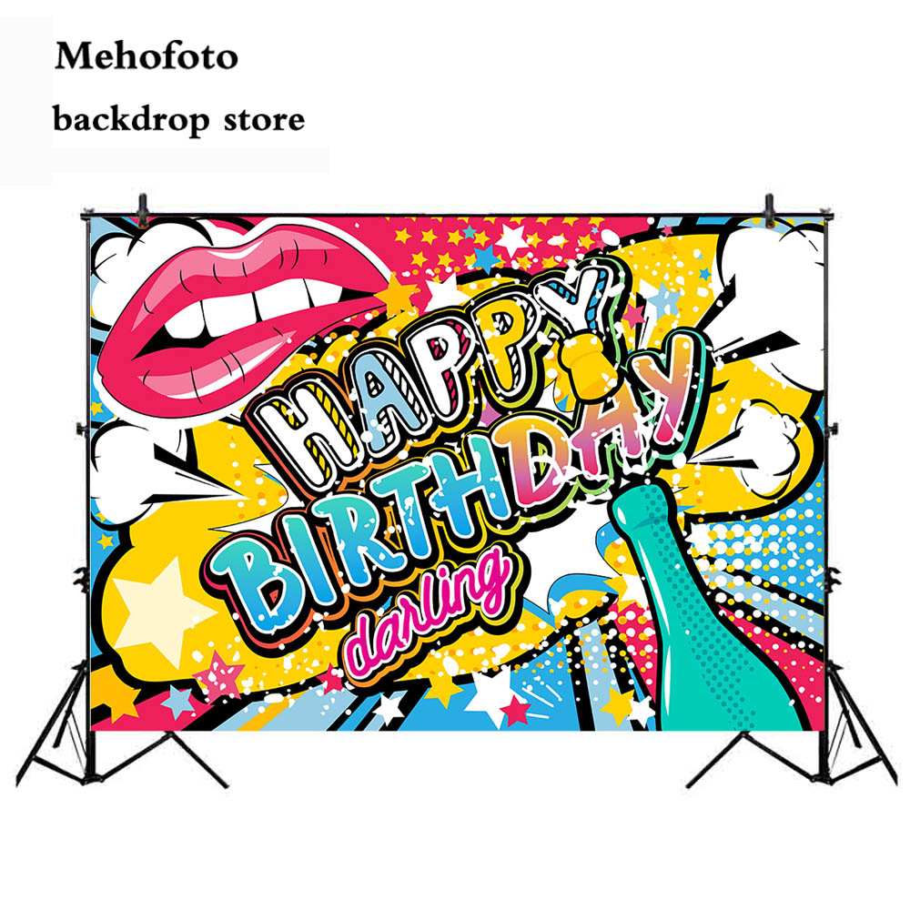 Mehofoto Happy Birthday Photography Backdrops Graffiti