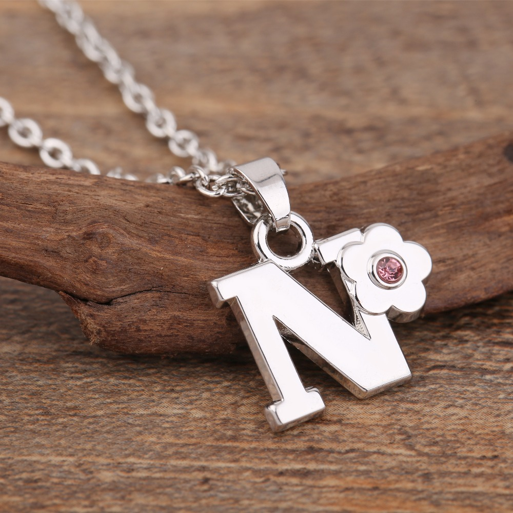 my shape custom necklace English Letter N Q P Q Y Z name necklace personalized For Women cute Gift Pendent Necklace