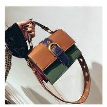 fa65eb59a378 2018 Сумки-мешки с панелями женские Сумки из искусственной кожи клатч на  плечо женская сумка высокого качества Южная Корея
