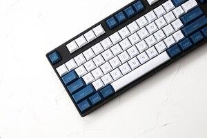 Image 3 - Dsa pbt haut imprimé légendes blanc bleu Keycaps gravé au Laser gh60 poker2 xd64 87 104 xd75 xd96 xd84 cosair k70 razer blackveuve