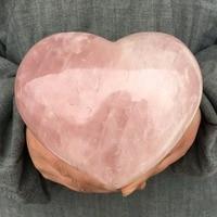 Large Natural Energy Pink Rose quartz Rock Specimen Heart reiki Healing for home decoration